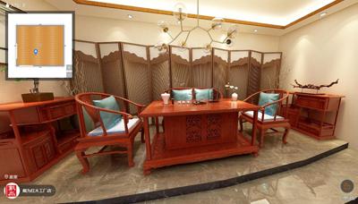 TW莲纹茶台茶室